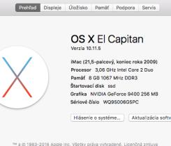 iMac 21,5 2009 Late 8GB RAM! 256GB SSD!