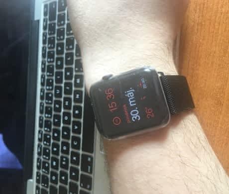 Apple Watch 42mm SpaceGray milanese loop