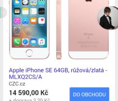 Koupím iPhone SE 64gb rose gold napište