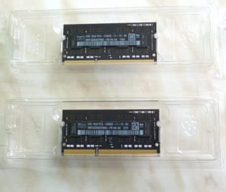 RAM DDR3 2x2GB 1600 Hz, Mac mini