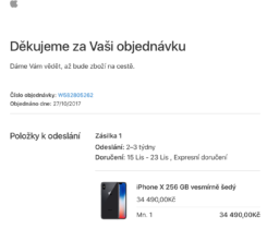 Přenechám iPhone X 256G Space Gray
