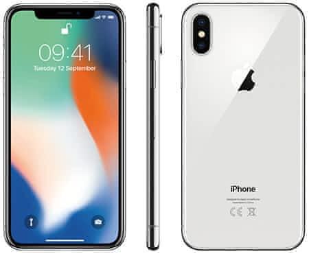 iPhone X 256 silver, nerozbalený