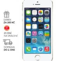 iPhone 5S 16GB GOLD ✓ sklo ✓ 1 R ZÁRUKA