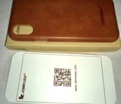 iPhone X, Kožený case nový,