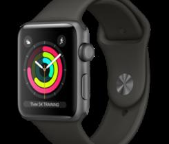 Apple Watch Series 3 42mm vesmírně šedý hliník s šedým sportovním řemínkem (2017)