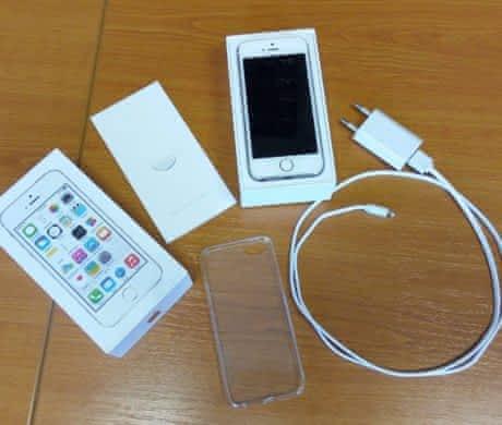 Zlatý iPhone 5s 16 gb neblokovaný