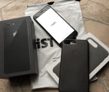 Iphone 8 plus 64gb black .