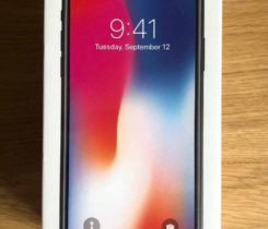 iPhone X – 64GB, Space Grey, Nová, 24M
