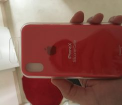 Iphone X Silicon cover Red