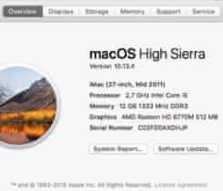 "Prodám iMac 27"" (mid 2011)"