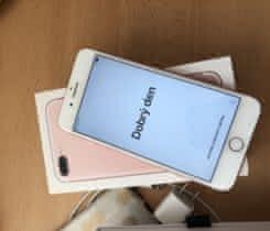 iPhone 7plus 128gb rose gold skvely stav