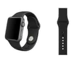 Sportovní černý řemínek 42 mm pro Apple