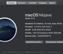"""MacbookPro 15"""" 2,4 GHz,  i7, 8GB, 256SSD"""