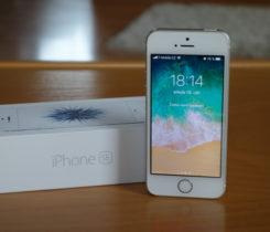 Apple iPhone SE Silver TOP STAV + přísl.
