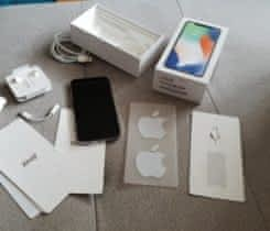 iPhone X silver 256gb jak novy