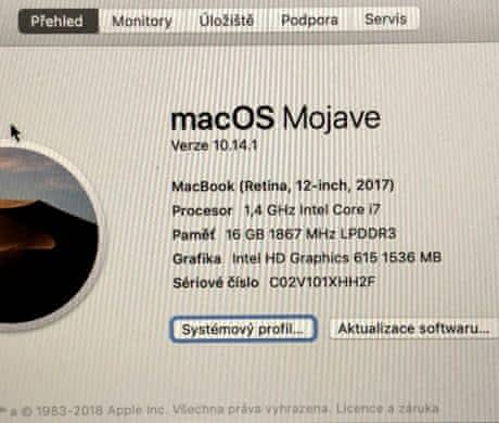 MacBook ,i7, 1,4 /16 GB/ 512, 11/2017