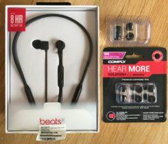 Prodám BeatsX + COMPLY paměťové nástavce