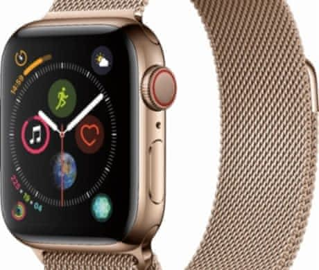 Apple Watch 4 nerez ocel 44mm, nerozb.