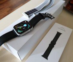 Apple Watch 4 44mm + Kožený pásek černý