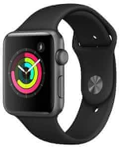 Apple Watch 3 Black, 42 mm, v záruce