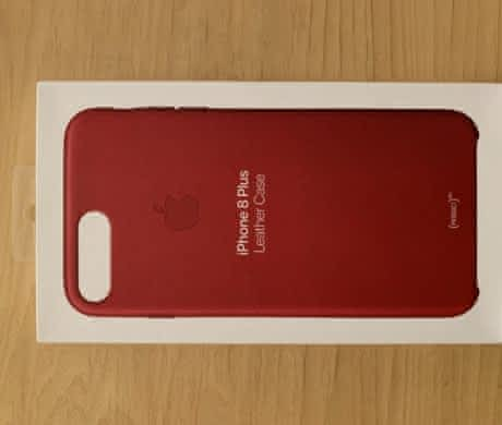iPhone 7/8 Plus  Leather Case (RED)
