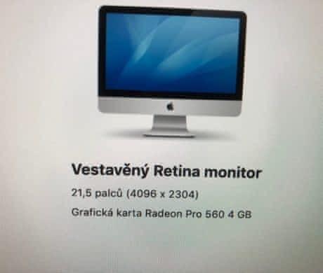 Prodám nový Imac 21,5 palců, Retina 4K
