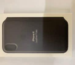 iPhone XS Kožené pouzdro Folio černé