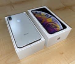 XS Max 256GB Silver, 3d sklo, TOP stav
