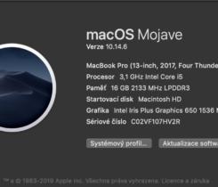 """MacBook Pro 13"""" wTB i5/16gb/512gb CTO Cz"""