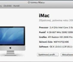 iMac, 20palcový, mid 2007, SSD 480GB