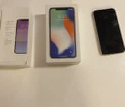prodám iPhone X 64GB bily  utopeny
