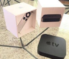 Apple TV 3 HD, stav A+, kompletní baleni