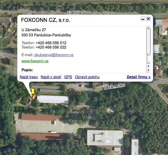 foxconn v ČR