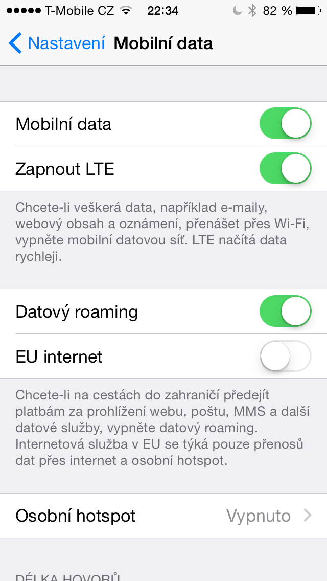 iOS 8 beta 4 EU internet