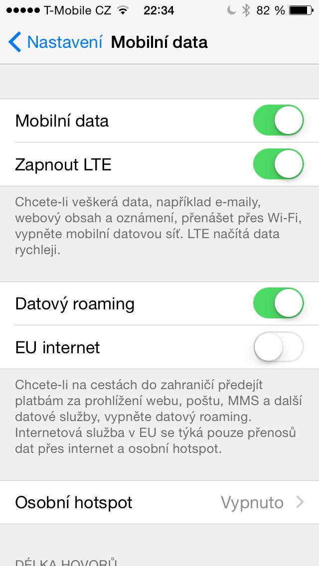 iOS 8 beta 4 EU internet