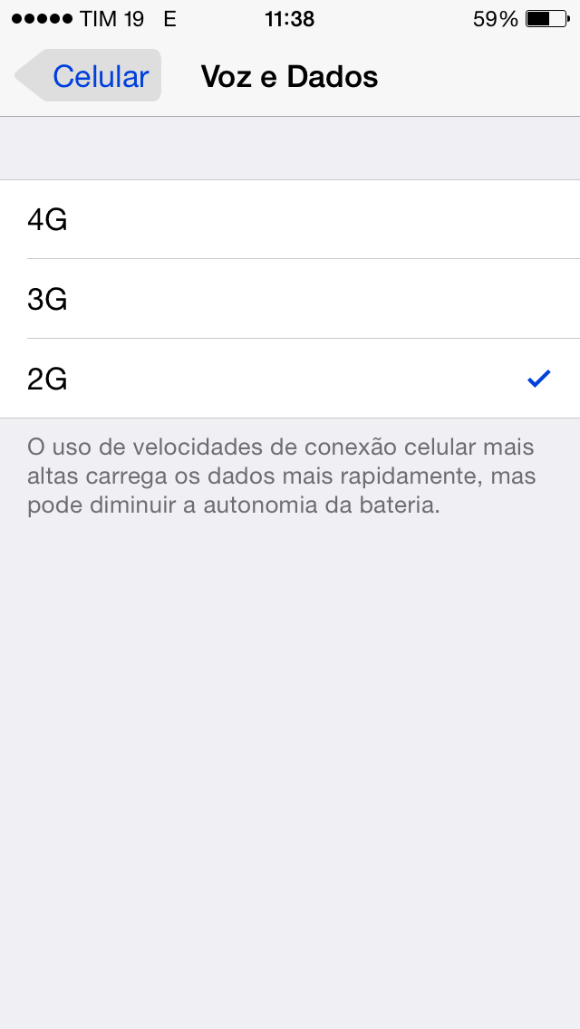 iOS 8.1 2G 3G 4G LTE switch