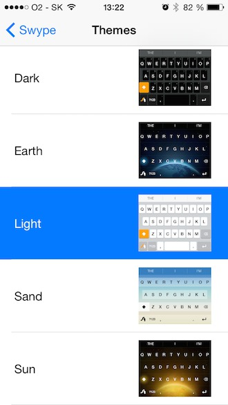 Swype themes