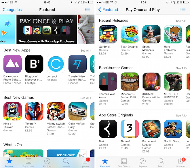 App Store Pay Once and Play
