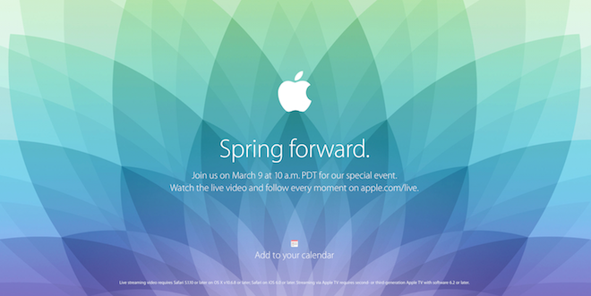 Apple Spring forward