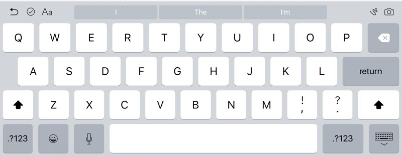 Klávesnica pre iPad v iOS 9 beta 2 - svetapple.sk