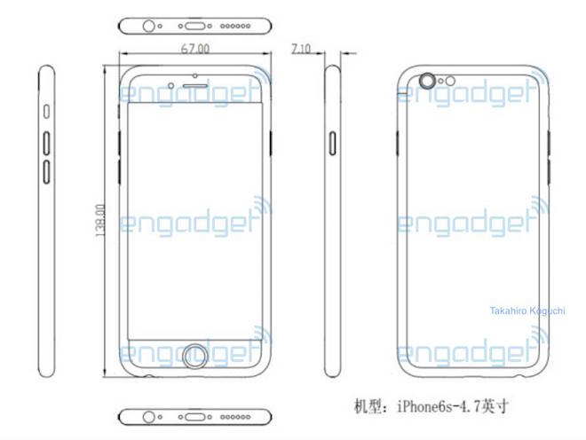 Schéma iPhonu 6S - svetapple.sk