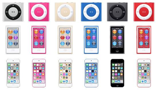 Nové iPody - svetapple.sk