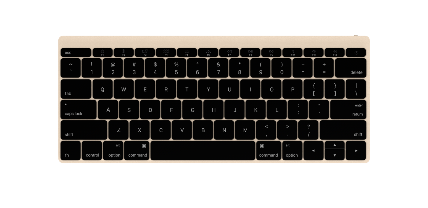 Apple Wireless Keyboard 2015 Gold