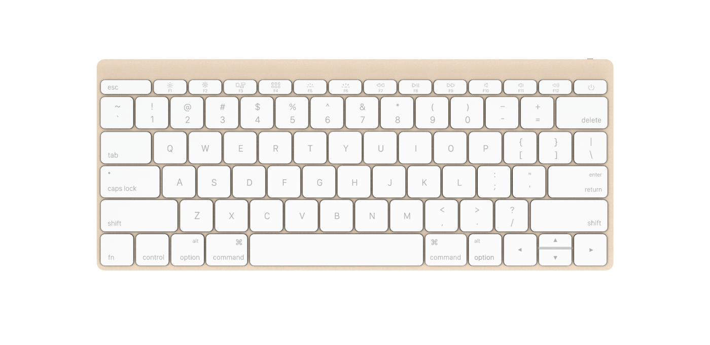 Apple Wireless Keyboard 2015 Gold White