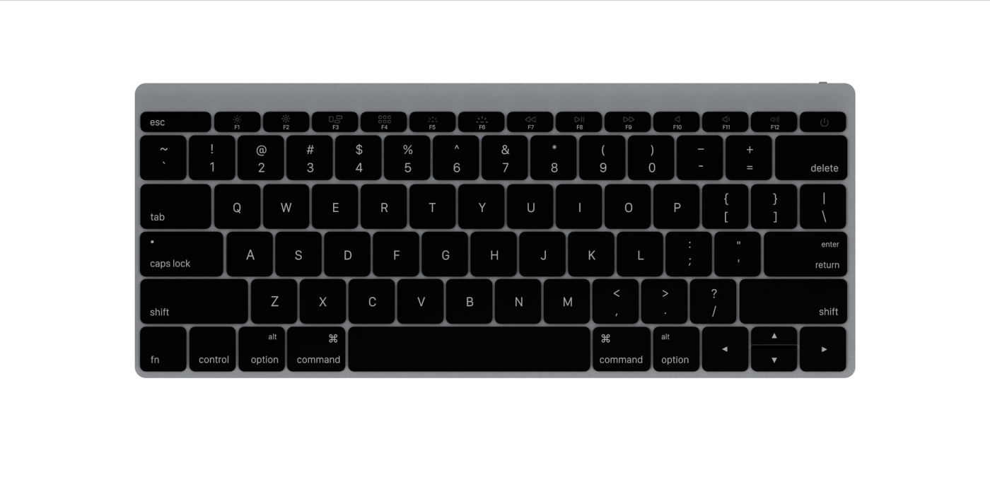 Apple Wireless Keyboard 2015 Space Grey