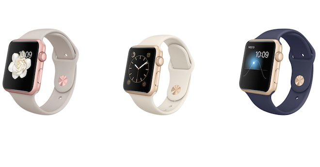 Apple Watch Sport Gold Rose Gold
