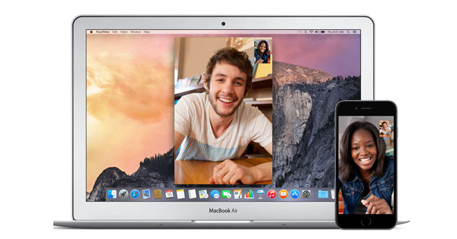 FaceTime Macbook iPhone