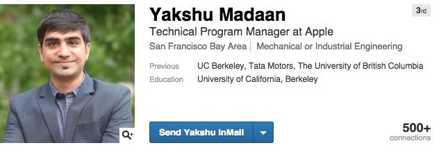 Yakshu Madaan Apple