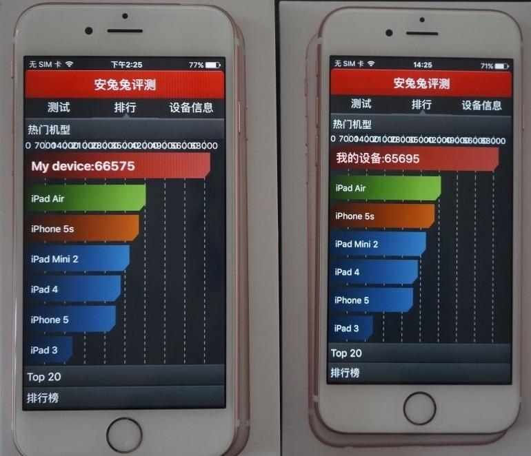 iPhone 6s AnTuTu Samsung avs TSMC