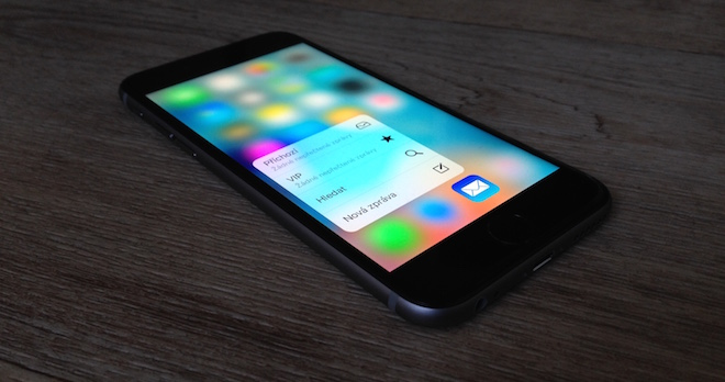 recenze iPhone 6s 3D Touch